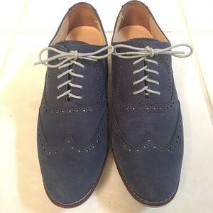 Cole Haan Blue Suede Oxfords